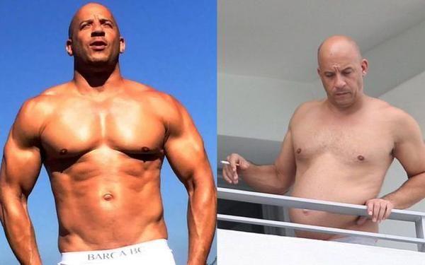Vin Diesel, prima e oggi.