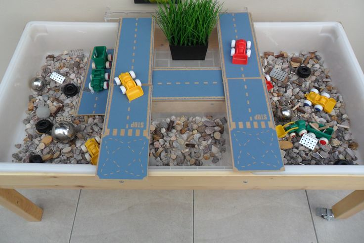 Roadworks Sensory Bin @ New Horizons Preschool