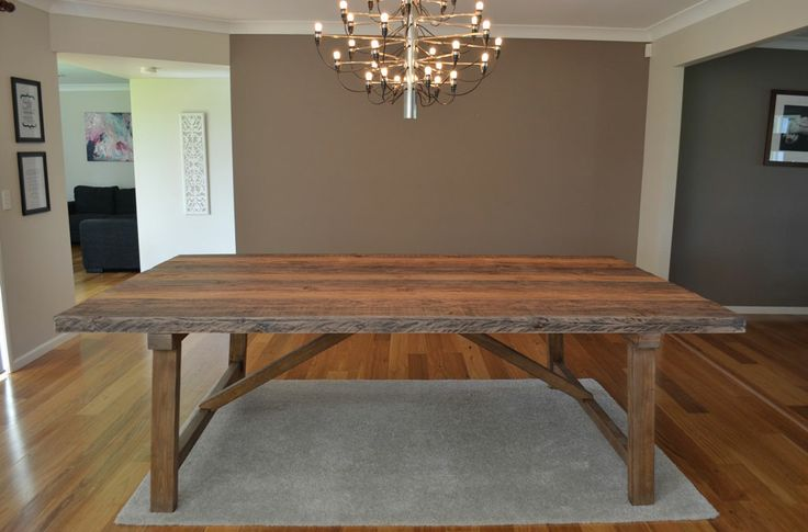 large rustic industrial 10 12 seat timber dining table recycled wood