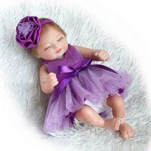 Fashion Handmade Reborn Dolls Mini Girl Gift 10 Inch Full Body Silicone Vinyl Lifelike Newborn Babies with Dress Kids Playmate(China (Mainland))