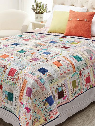 Quilting – Beginner Quilt Patterns – Wonky Log Cab…