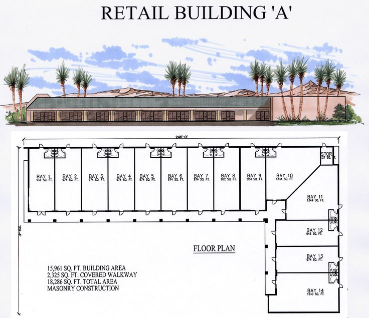 Retail Building Plan A Architecture Pinterest More