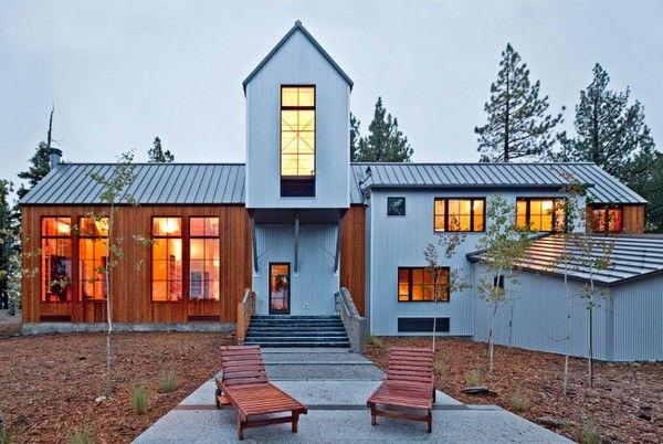 Tahoe Ridge House, back porch