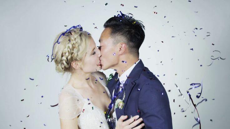 Videobooth com camera lenta em casamento