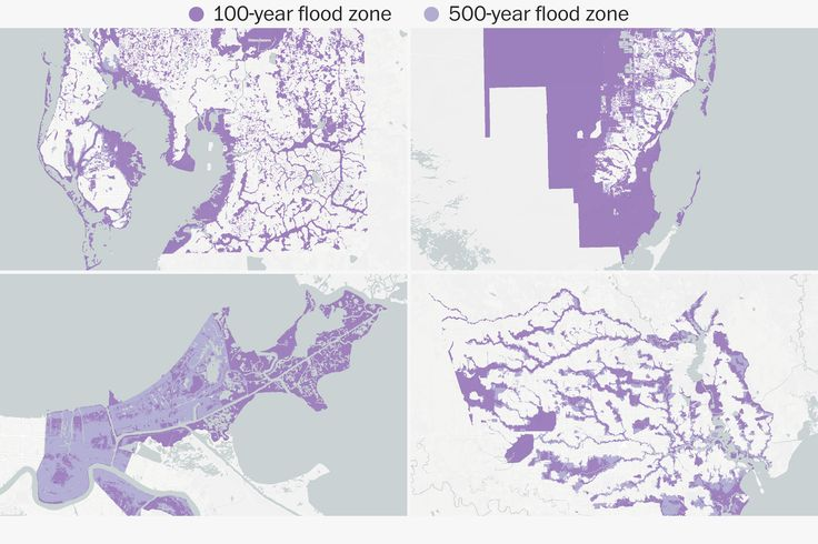 Hundreds of thousands of people live in flood-prone cities like Houston, Miami, New Orleans, Tampa Bay and New York. Here's what 500-year floods look like, or could look like, in those cities.