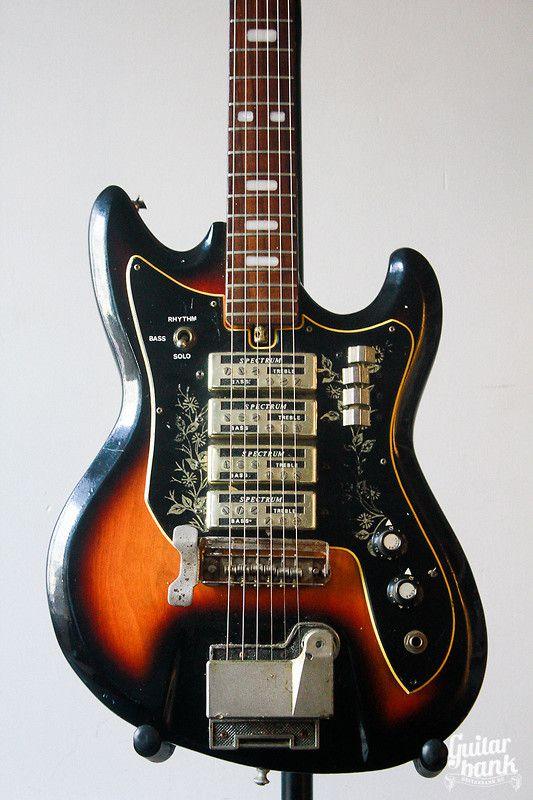 Vintage Rare Japan Teisco ET 440 1975 Sunburst #guitar #vintage #gear…