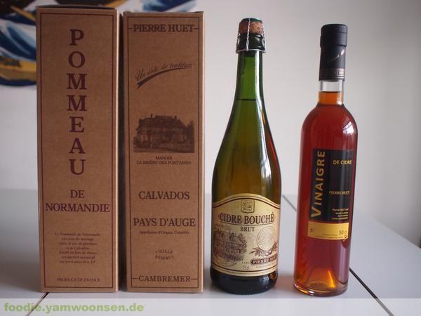 Cidre, Pommeau und Calvados aus der Kellerei Pierre Huet