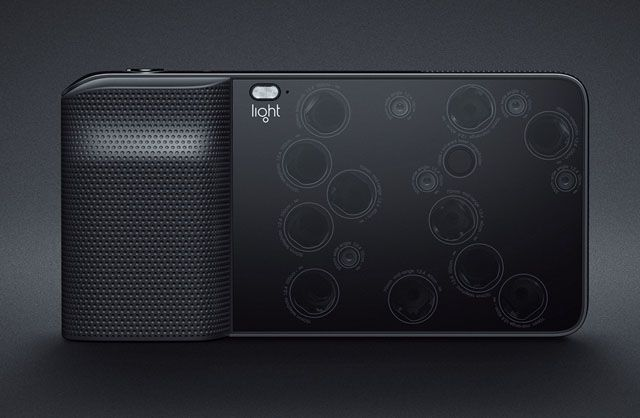 Light L16 point-and-shoot. 16 camera lenses in one camera body capture 52mp photos.