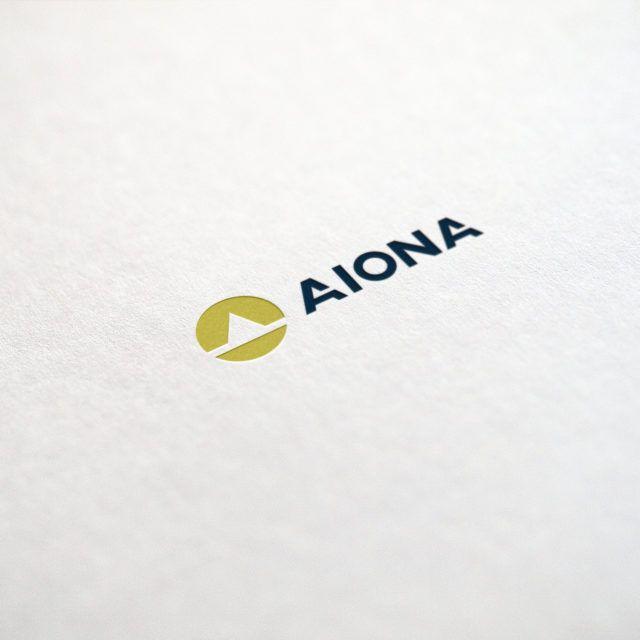 Projekt logo firmy Aiona