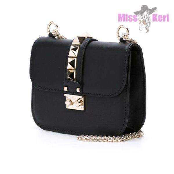 Cумка Valentino Garavani Rockstud Flap Mini Shoulder Glam Lock black  купить, цена, интернет-