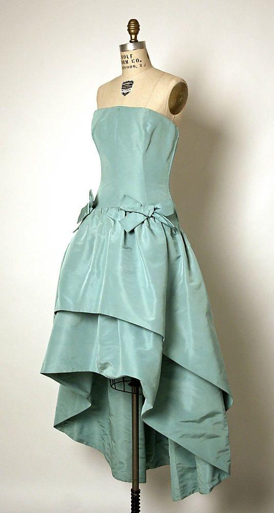 1963 Balenciaga Dress, Evening ~ Found on metmuseum.org