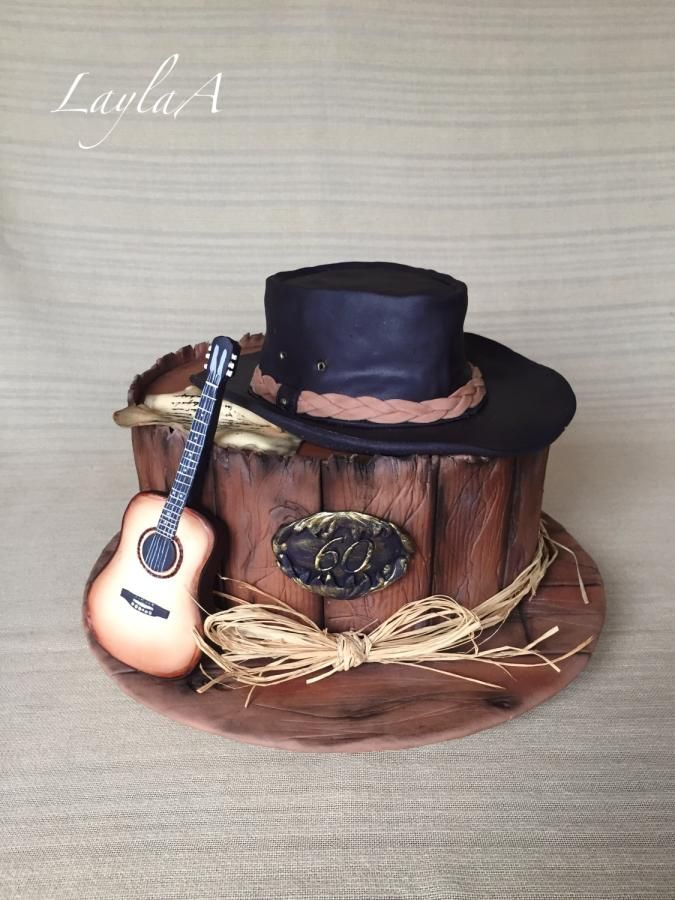 Surprising Western Cowboy Guitar Cake With Images Cowboy Birthday Cakes Funny Birthday Cards Online Aboleapandamsfinfo