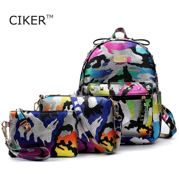 Cheap backpack hp, Buy Quality backpack knapsack directly from China backpack women Suppliers: CIKER Brand 3pcs/set camouflage printing backpack women leather backpacks for teenage girls school bags travel bag mochila mujer