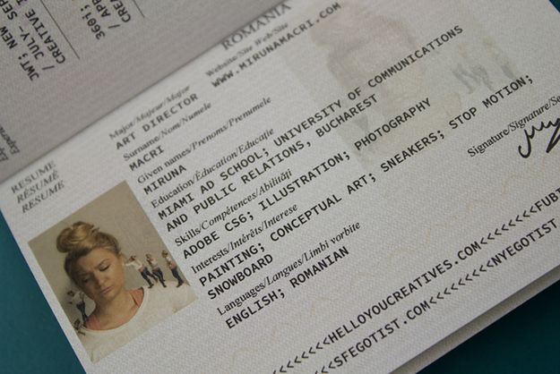 Job Candidate Transforms Portfolio Into A Fake, Deliberately-Lost Passport [Video] - PSFK