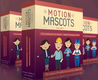 Motion Mascots V4 is a brand-new mega collection with dynamic & engaging animated characters! It comes with 450 animated characters