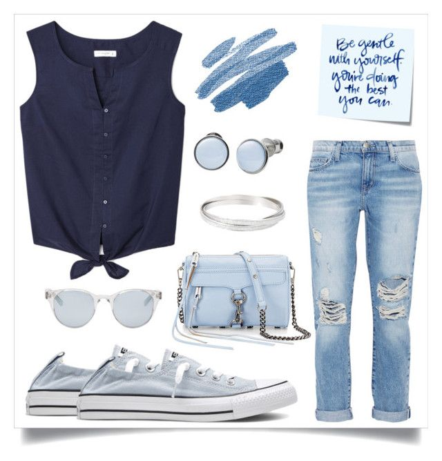 """""""Just a Touch of #Serenity"""" by desiresinstyle on Polyvore featuring moda, Current/Elliott, Converse, Sun Buddies, Rebecca Minkoff, Skagen e Post-It"""