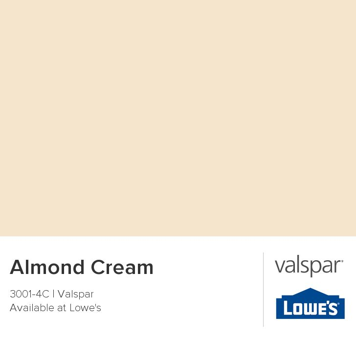 Almond Cream From Valspar Wall Color Pinterest Valspar And Kitchens