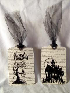 Halloween bookmarks with two tags die