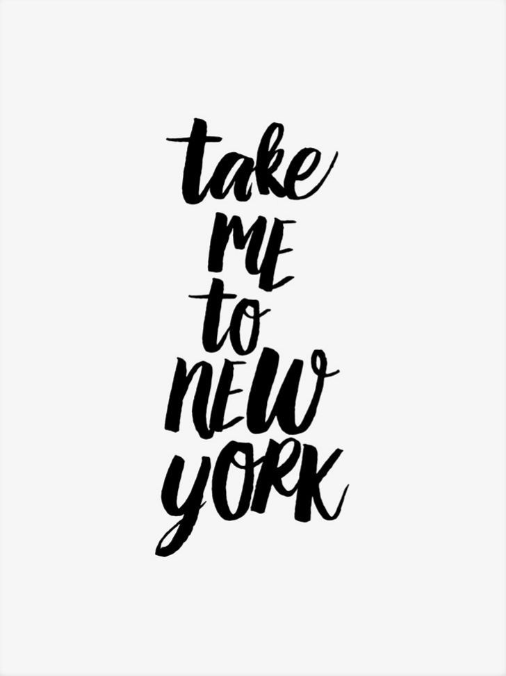 Take me to New York. Printable black and white poster. NY Lovers. Travel.