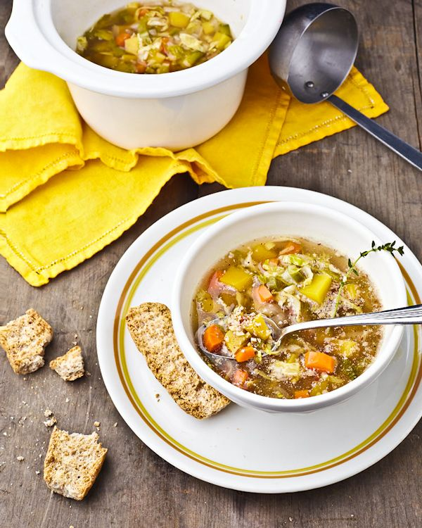 Autumn Harvest Veggie Soup (from #VeganSlowCooking by @Kathy Hester)