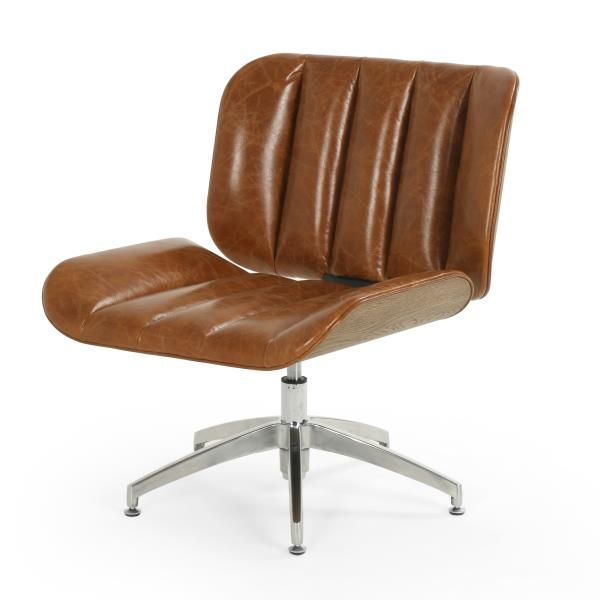 Four Hands Edison Swivel Chair Retro Office Styling Gets A
