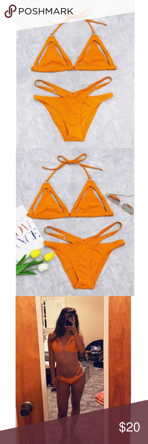 ✨Host Pick✨ NWOT orange cut out bikini This bathing suit is brand new came without tags but never been worn ROMWE Swim Bikinis