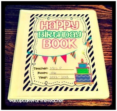 A Cupcake for the Teacher: Happy Birthday {Craftivity & Printables}