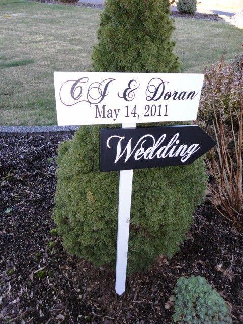 Señales direccionales con flechas.  Signos de boda personalizados para tu boda, boda de playa, ceremonia, recepción o evento.