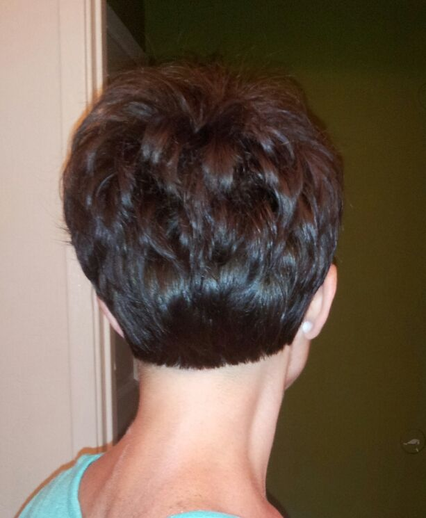 Per request: Back of my Pixie cut :)