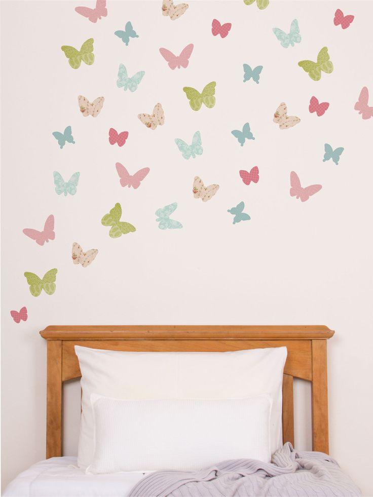 Butterflies woodland wall stickers wall stickers wall decor tinyme com butterfly wall stickerskids bedroomkids