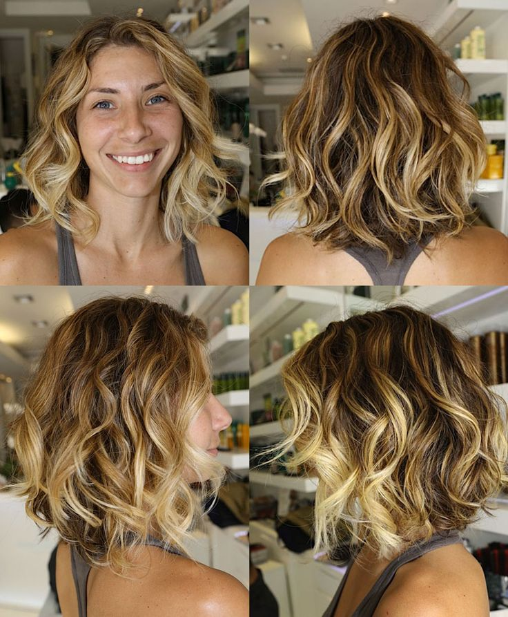 short Ombre Hair. love those curls