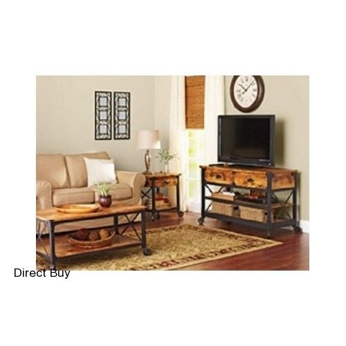Vintage Country Coffee Table End Table TV Stand Rustic Living Room Furniture Set #BetterHomesGardens #Rustic