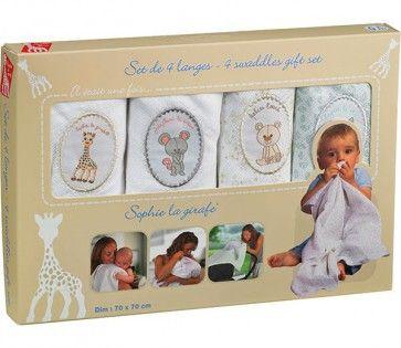 Stofbleer fra Vulli m. Sophie Giraf i gaveæske (4 stk) 200 kr