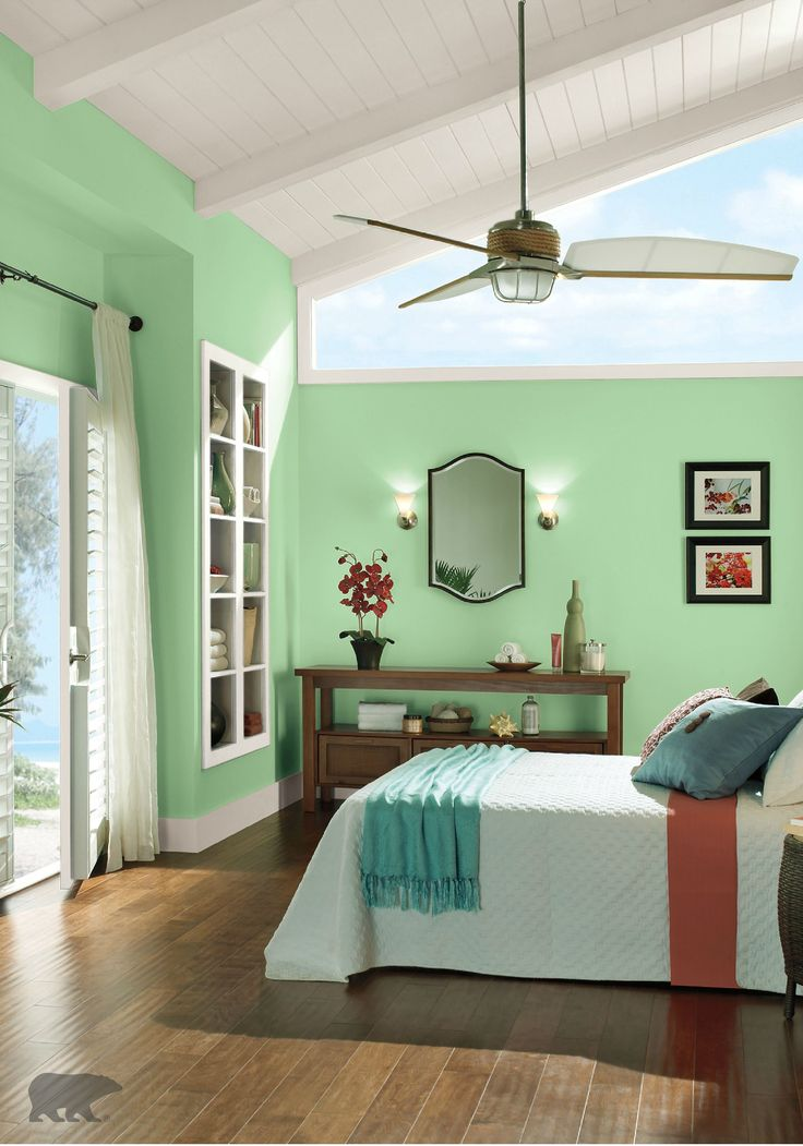 Looking for a cool update for your bedroom to create a Paint colors for calming effect