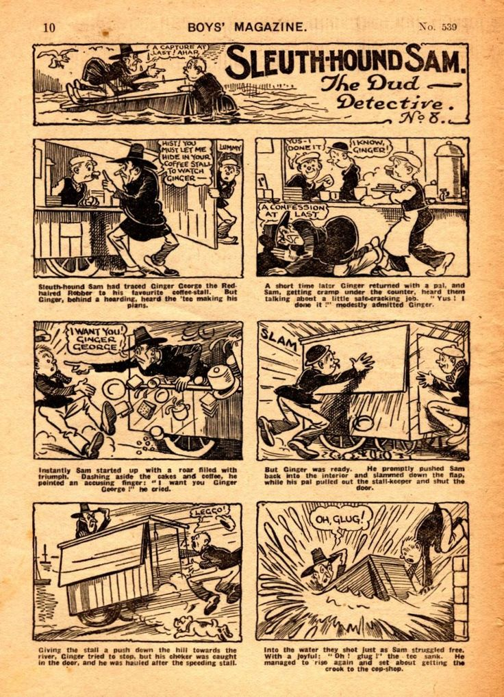 UK GOLDEN AGE HEROES AND COMICS: Sleuth-Hound Sam The Dud Detective