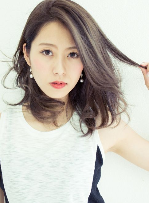 【潤艶カラー】カット+イルミナカラー☆ 【HAIR STAGE Deux】 http://beautynavi.woman.excite.co.jp/salon/20095?pint ≪ #mediumhair #mediumstyle #mediumhairstyle #hairstyle・ミディアム・ヘアスタイル・髪形・髪型≫