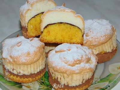 Rozi Erdélyi konyhája: Háromszínű muffinok