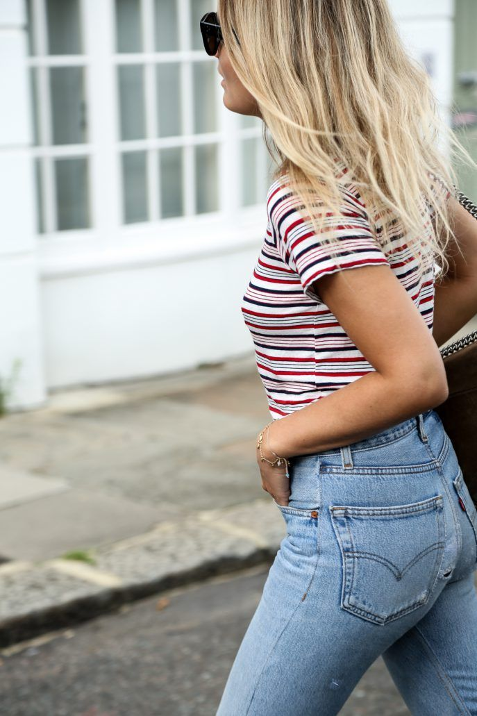 red and blue stripes * fourth of july style inspo
