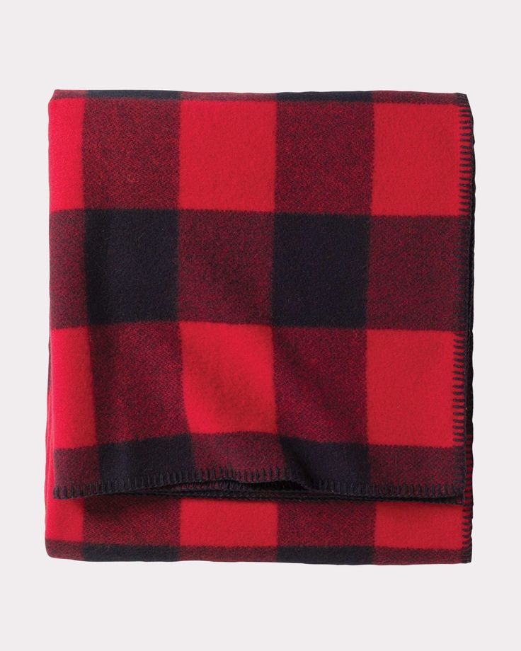 ECO-WISE WOOL PLAID/STRIPE BLANKET, ROB ROY TARTAN, large