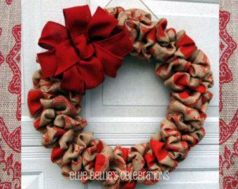 Guirnalda de Navidad cuenta regresiva Santa por EllieBelliesDesigns