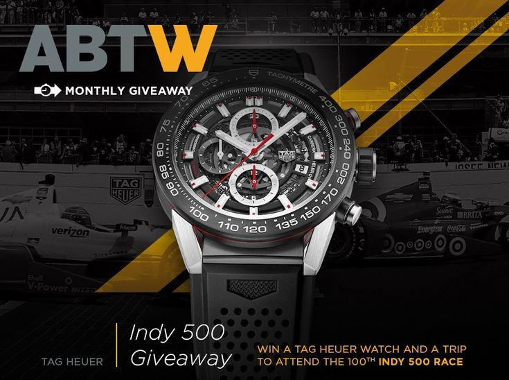 """LAST CHANCE: Indianapolis 500 Race With TAG Heuer Watch & Experience #Giveaway """"Just a short time left in December and for your chance to enter to #win #VIP access to the 100th running of the Indianapolis 500 race on May 29th, 2016, plus a TAG Heuer watch in this month's special watch & experience giveaway on aBlogtoWatch..."""""""