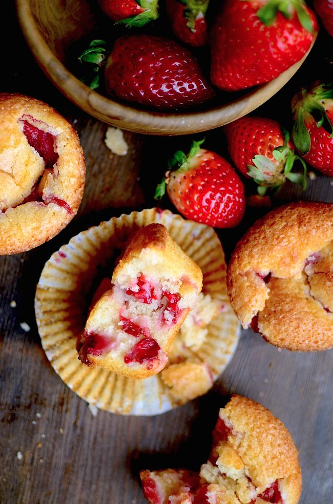 The absolute best recipe for strawberry muffins ever! These truly are the best!
