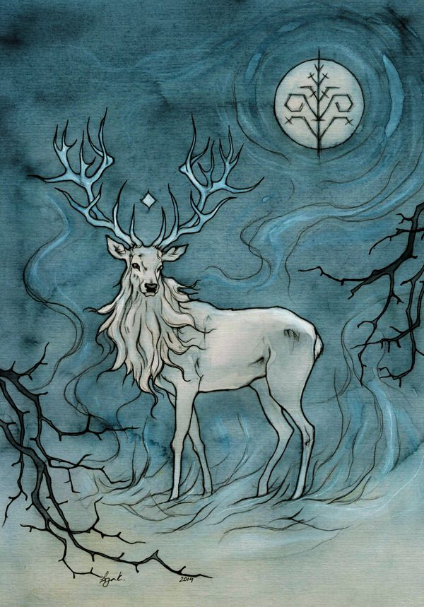white stag by liga-marta.deviantart.com on @deviantART