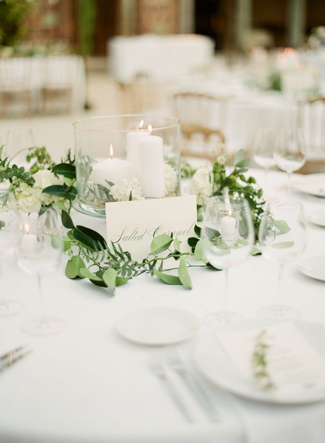 Awesome White And Green Classic Wedding Centerpiece Part 32