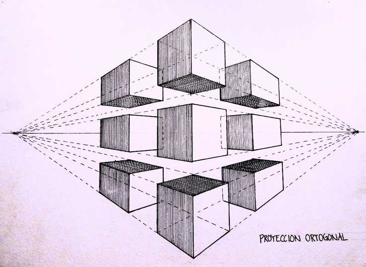 Perspective - Orthogonal Projection  / Proyección Ortogonal.