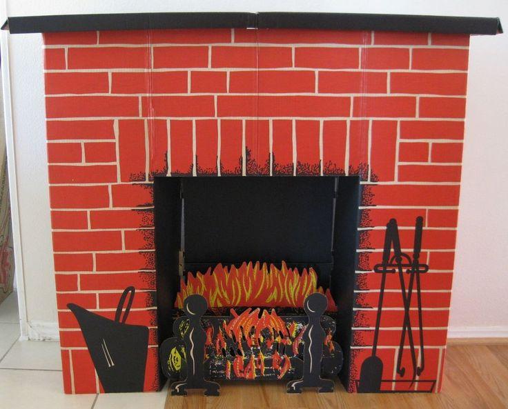 Vintage Toymaster Christmas Electric Life Sized Fireplace