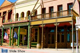 Great Places in America: Top 10 Streets  Virginia City, NV outside of Reno: The legacy of the miners and prospectors remains along C Street where wooden-plank walkways, gas street lamps, historic buildings with awnings, and swinging saloon doors harken back to the time of the discovery of the Comstock Lode.