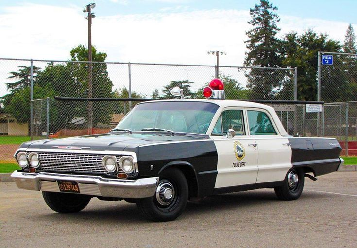 """Chevrolet Police Car with the """"bubble gum"""" lights on top. All that's missing is the big search light on the side."""