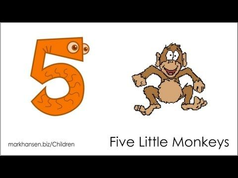 Counting Songs for Children 1-5 Numbers Kindergarten Kids Toddlers Five Little Monkeys Song - YouTube