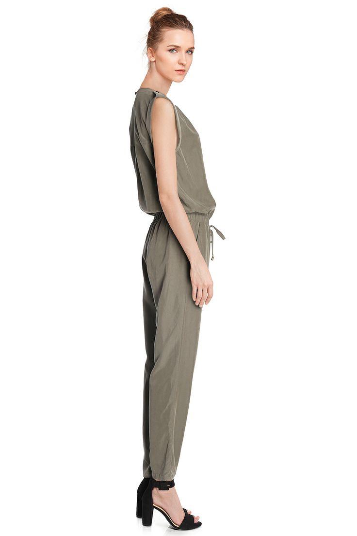 Vente Etam / 12499 / Robes / Sans Manches et MC Chics / Combinaison Kaki